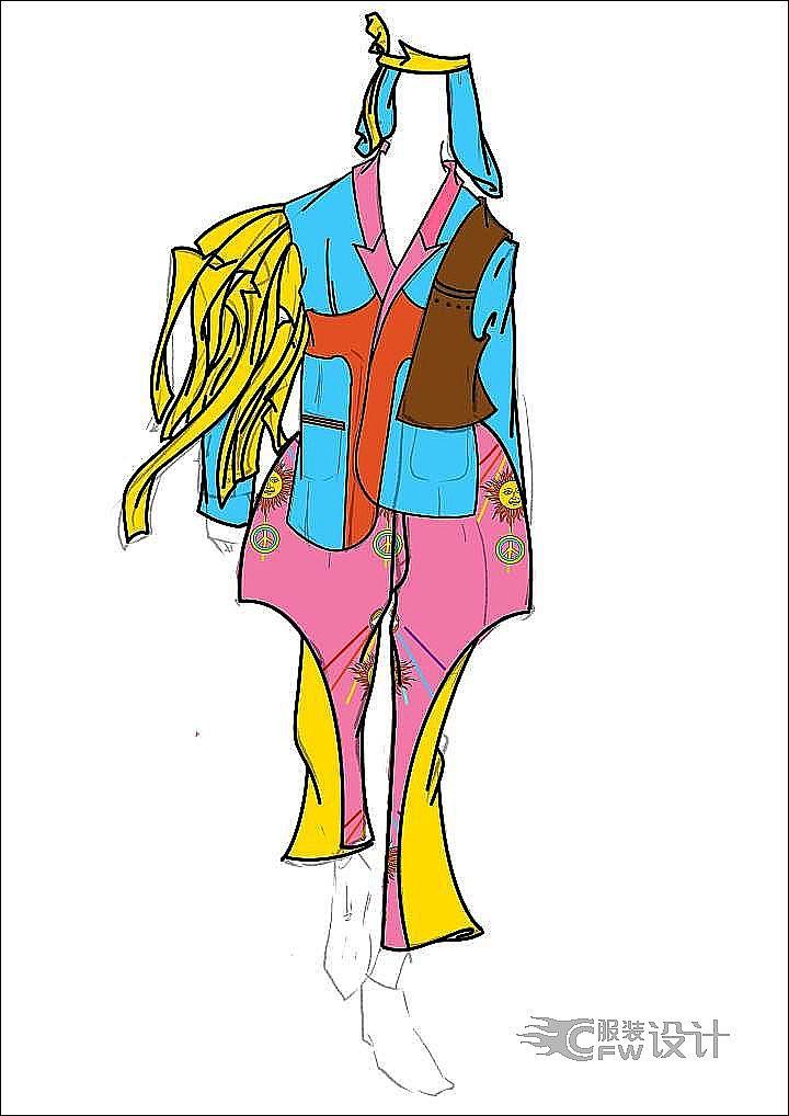 男装作品集设计作品-男装作品集设计款式图