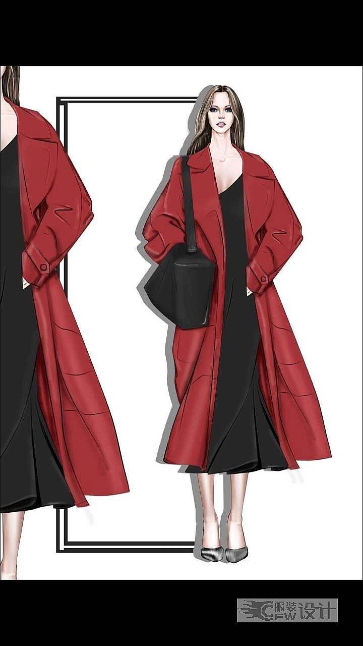 穿红外套的女人作品-穿红外套的女人款式图