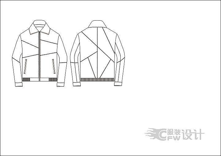 单装皮衣作品-单装皮衣款式图
