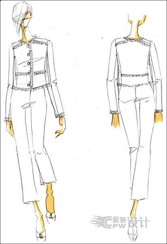 女装外套作品-女装外套款式图