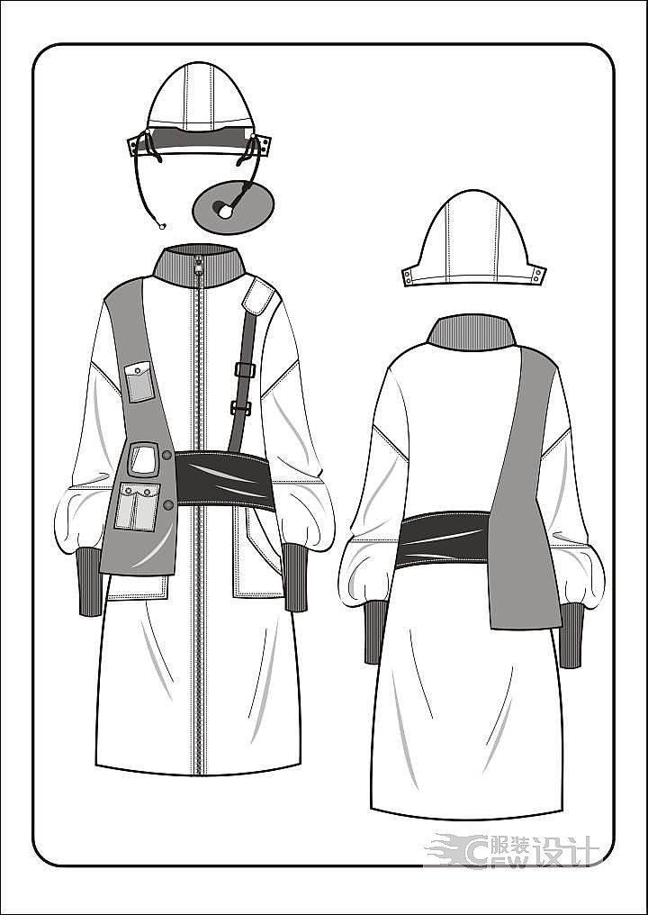 外套作品-外套款式图