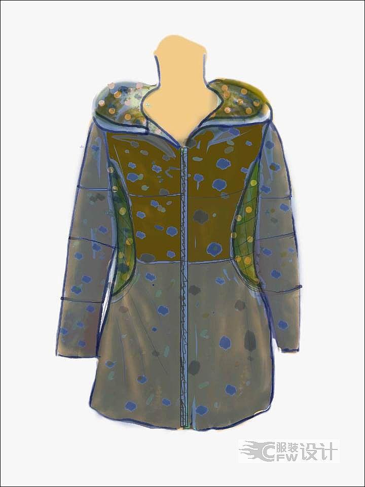 休闲棉衣4作品-休闲棉衣4款式图