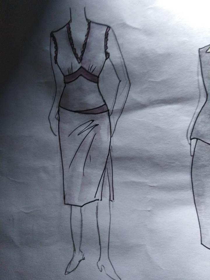 裙作品-裙款式图
