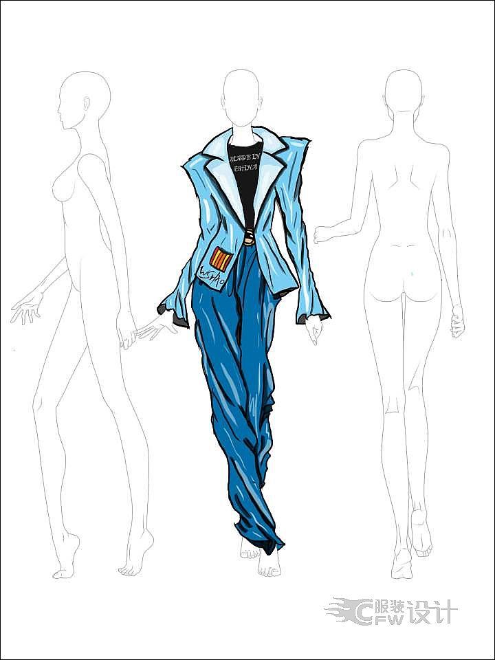 董智威 - 服装设计作品-董智威 - 服装设计款式图