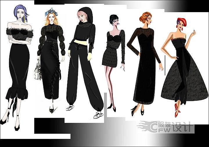 多元化服装作品-多元化服装款式图