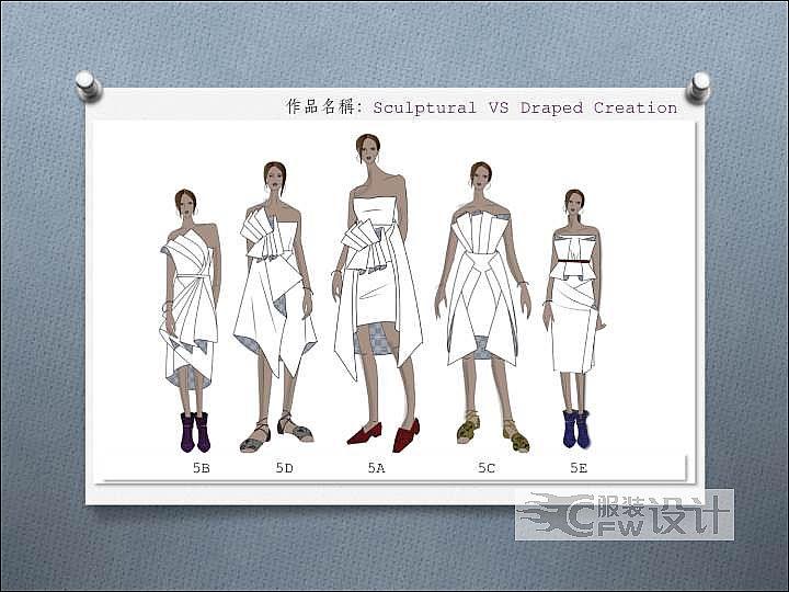 2019国际女装设计大赛决赛优秀奖作品-2019国际女装设计大赛决赛优秀奖款式图