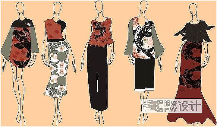 女装作品-女装款式图