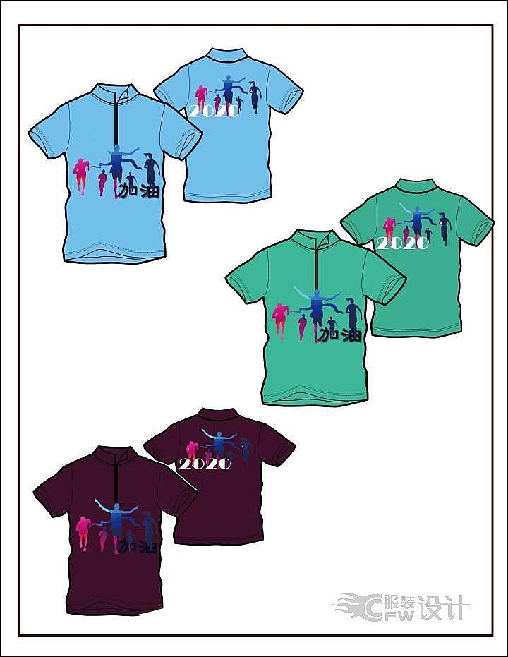 T恤2作品-T恤2款式图