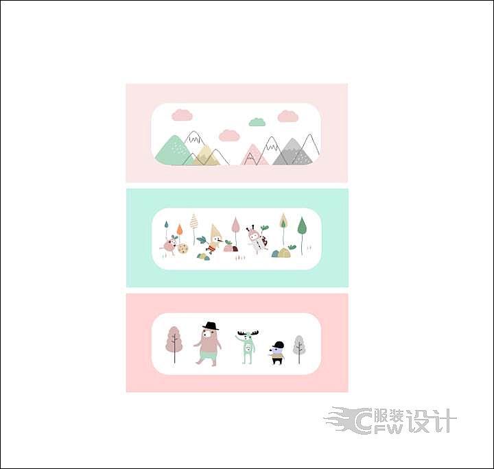 图案  产品图案设计    婴童图案设计作品-图案  产品图案设计    婴童图案设计款式图