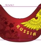 俄罗斯双头鹰刺绣和点针绣
