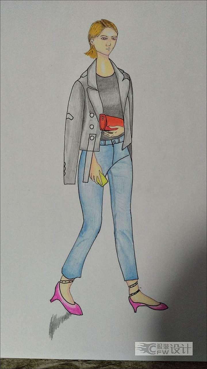 时尚作品-时尚款式图