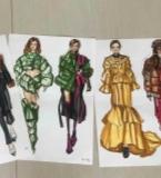 服装设计手绘、制版、制作