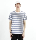 MOST男装蓝白条纹T恤
