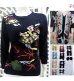 欧美植物花卉羊毛衫