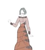 棕色长裙长袖