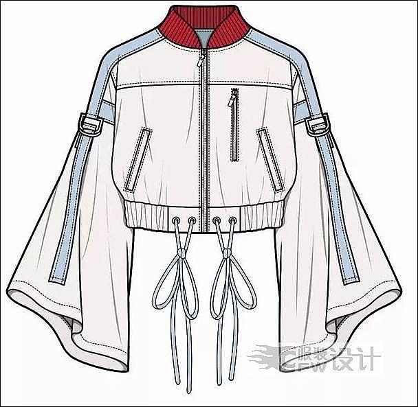 夹克风衣类作品-夹克风衣类款式图