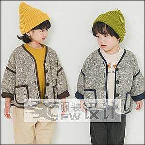 童装三件套作品-童装三件套款式图