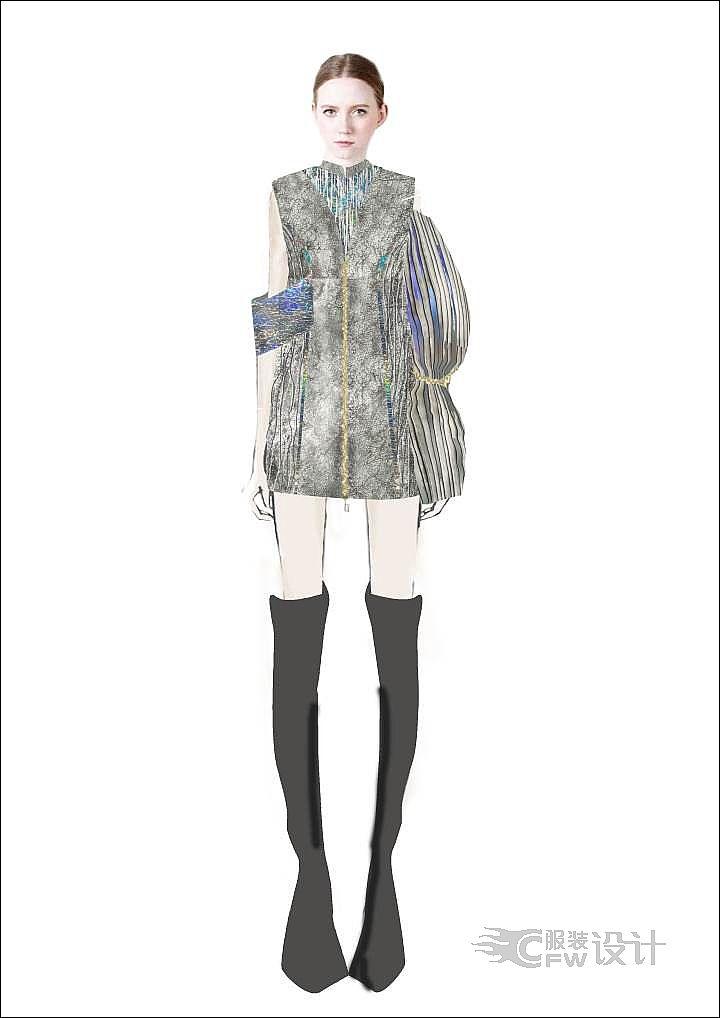 创意连衣裙作品-创意连衣裙款式图