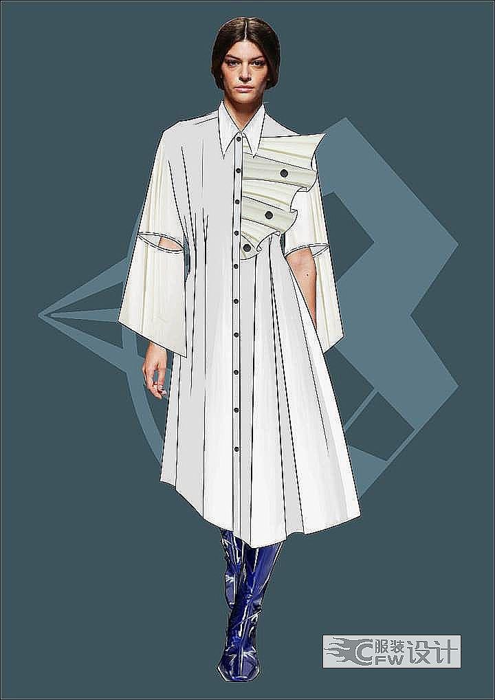 春夏女装设计作品-春夏女装设计款式图