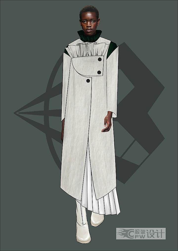 秋冬女装设计作品-秋冬女装设计款式图