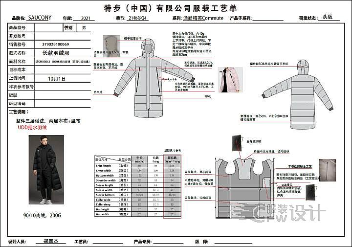 城市通勤系列服装设计作品-城市通勤系列服装设计款式图