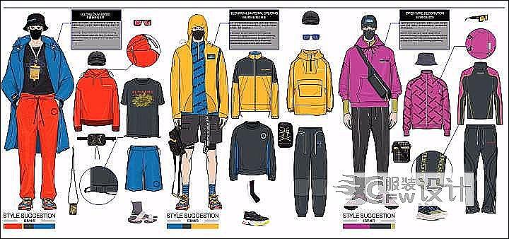 服装设计作品-服装设计款式图