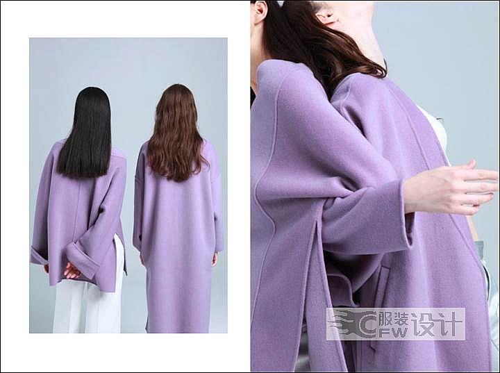 双面尼大衣设计作品-双面尼大衣设计款式图