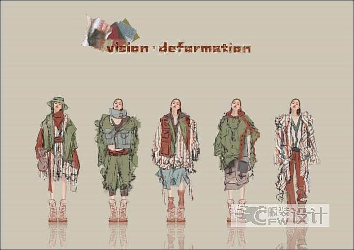 薛敬纯作品集-服装设计助理作品-薛敬纯作品集-服装设计助理款式图
