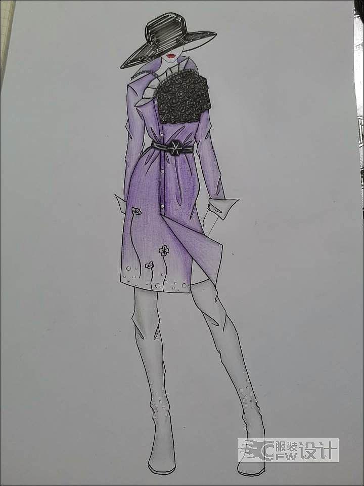 小紫大衣作品-小紫大衣款式图