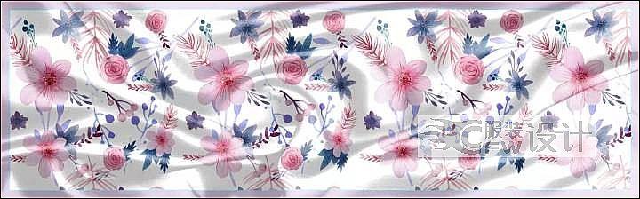 丝巾作品-丝巾款式图
