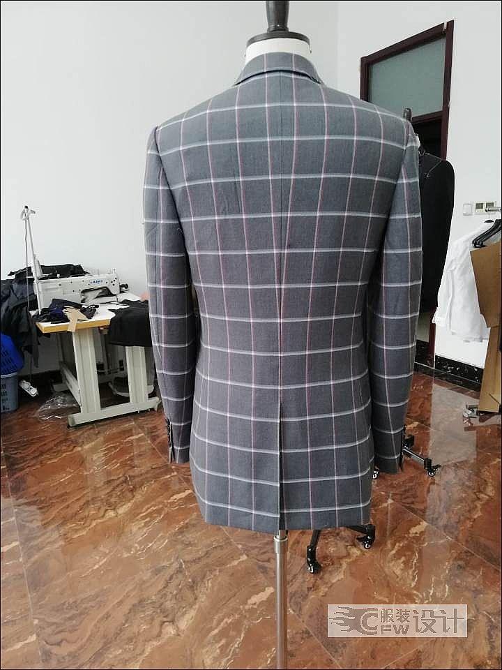 男西装作品-男西装款式图