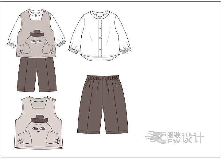 民族风童装作品-民族风童装款式图