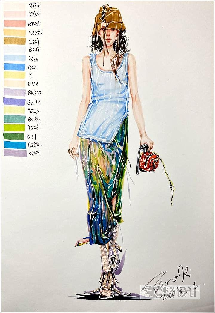 手绘作品作品-手绘作品款式图
