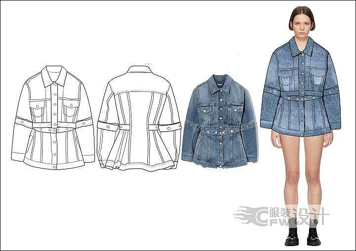 服装款式图、效果图作品-服装款式图、效果图款式图