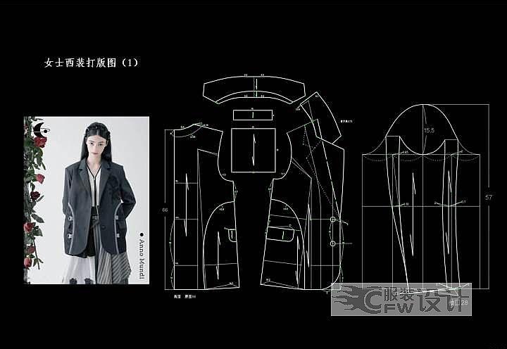 服装打版作品-服装打版款式图