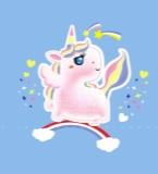 彩虹独角小白马