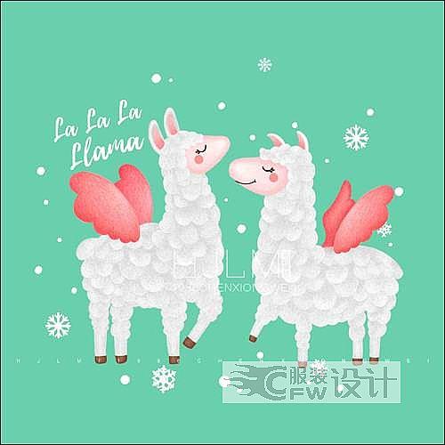 一对羊驼作品-一对羊驼款式图