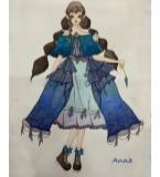 冰雪奇缘礼服高定设计纯手工制作