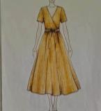 长款棉麻连衣裙