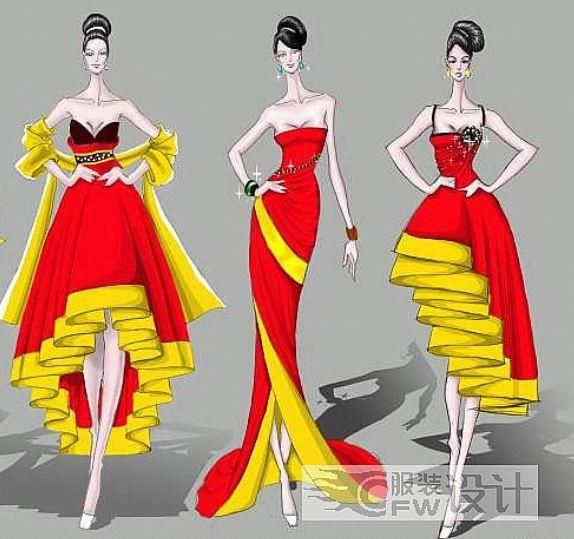 中式民族风礼服设计