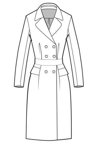 女装外套手绘效果图