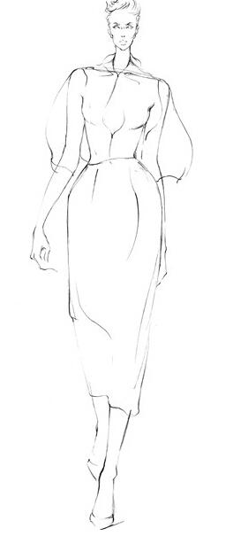 服装设计大赛 学习(时装画/手绘技巧)设计大赛    薄纱面料表现绘图
