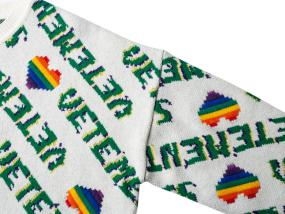 Vetements Rainbow heart 系列彩虹爱心三色毛衣
