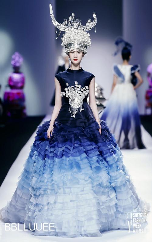 BBLLUUEE东方美,凝聚万千诗艺 BBLLUUEE粉蓝时尚艺术跨界秀,传递东方美学(图8)