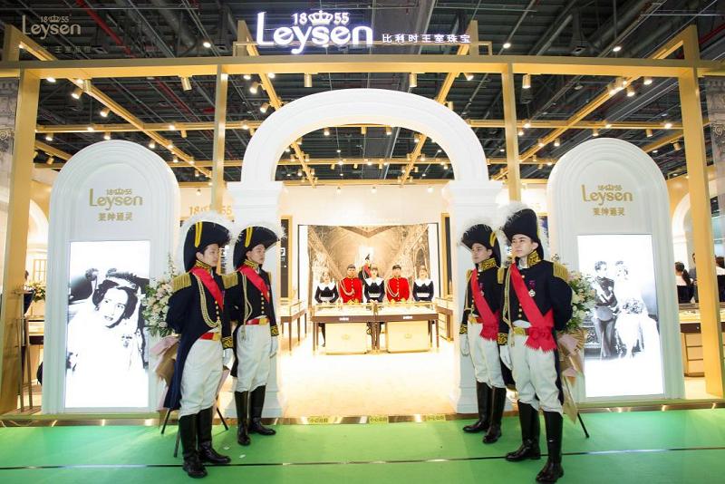 华夏婚博会上海站 Leysen莱绅通灵千余款猫眼尽显王族之美