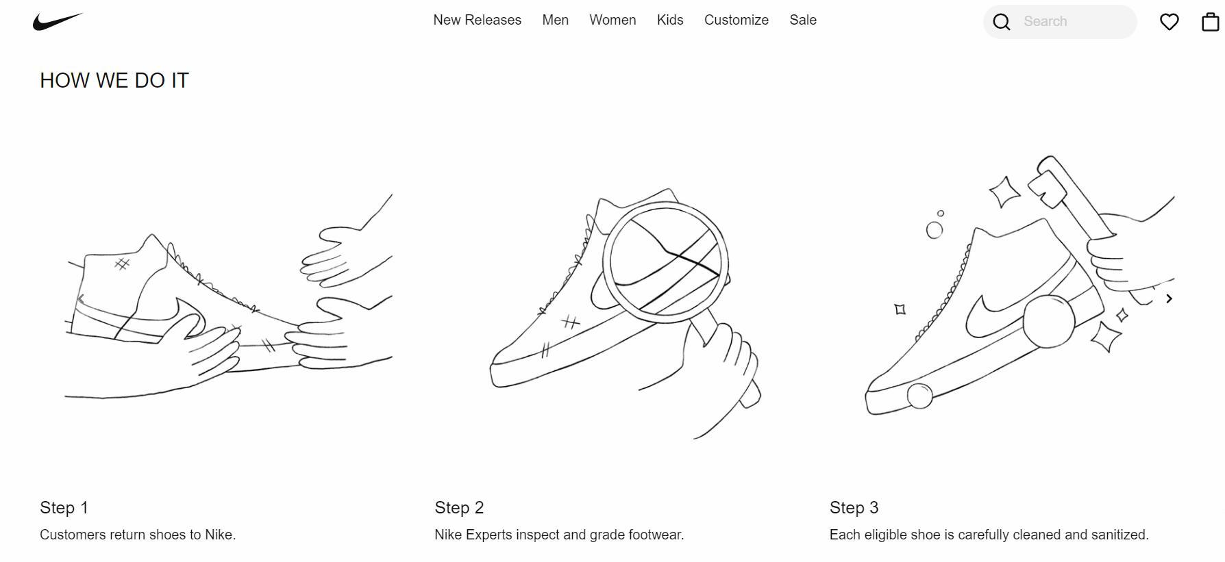 """Nike 在美利坚合众国推出""""旧鞋创新""""名目"""