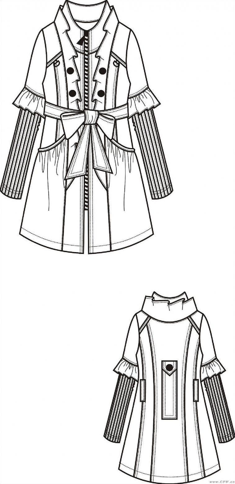 风衣设计图_男款风衣设计图